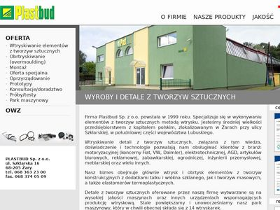 www.plastbudzary.pl - detale z tworzyw sztucznych