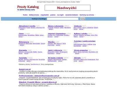 Prosty-Katalog.pl - autorski katalog www