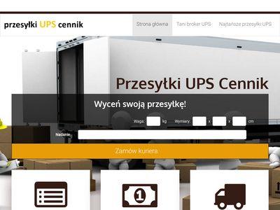 Tanie przesyłki kurierskie UPS