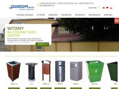 SKATOM pojemniki do segregacji odpadów