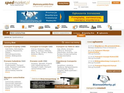 Ogłoszenia firm transportowych, baza firm