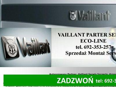 Serwis naprawa przeglądy montaż pieców Vaillant Szczecin