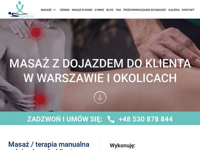 Masaż Warszawa - dojazd do klienta