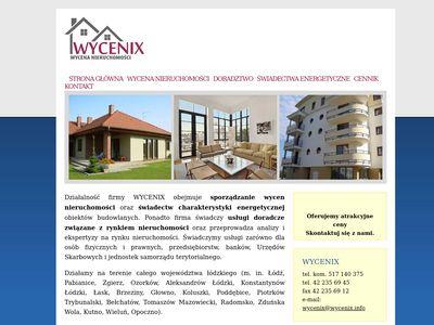 WYCENIX   Wycena nieruchomości, Rzeczoznawca majątkowy - Łódź, Pabianice, Zgierz
