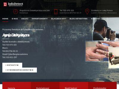 Detektyw Lublin - Agencja Detektywistyczna InfoDetect