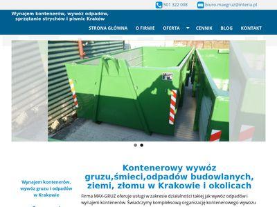 MaxGruz wywóz śmieci w Krakowie