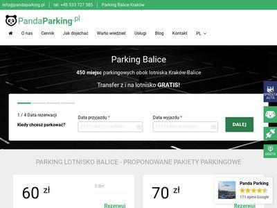 Panda Parking parking lotnisko Balice niska cena