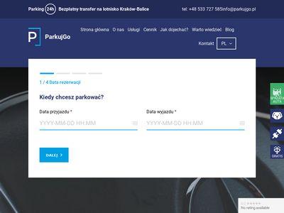 Parkujgo.pl - długoterminowy parking przy lotnisku Balice