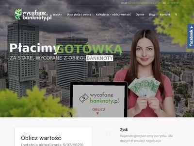 Https://wycofanebanknoty.pl stare waluty