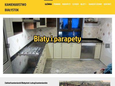 Schody marmurowe i granitowe - Białystok