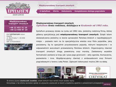 Epitafium-przewozy.pl - Przewóz zwłok z zagranicy