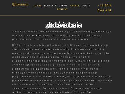 Zakład pogrzebowy Warszawa Ursynów - Jakubisiak.eu