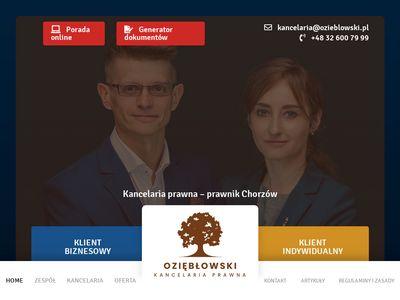 Usługi prawnicze w Chorzowie - Kancelaria prawna Paweł Oziębłowski