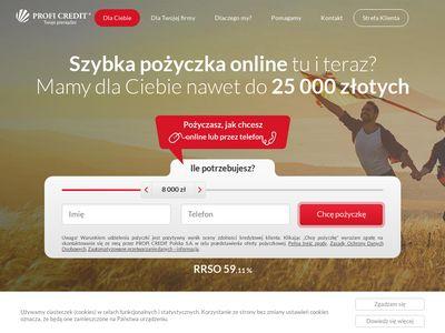 Pożyczka pozabankowa ProfiCredit