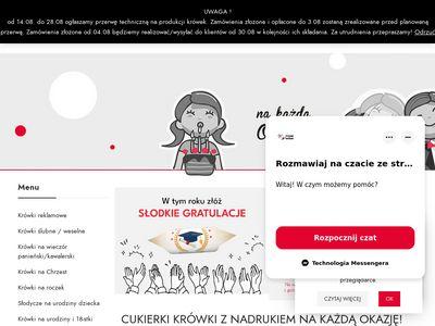 Pyszne-krowki.pl - cukierki z logo firmy