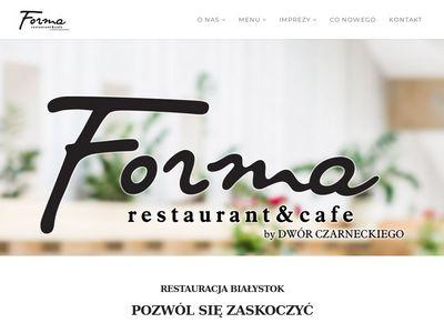 Renomowana restauracja Forma w Białymstoku.