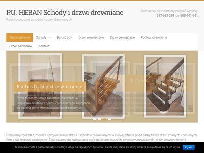 """P.U. """"HEBAN"""" Przemysław Soboń - drzwi i schody drewniane"""