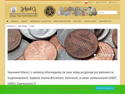 Monety kolekcjonerskie - arkadia-sklep.pl