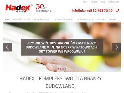 Materiały budowlane - Hadex