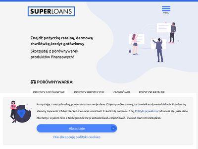 SUPERLOANS.pl: Porównywarki pożyczek i kredytów online