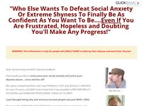 Dissolve Social Anxiety Signup Page