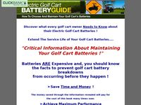 Golf cart batteries - Golf Cart Batteries Maintenance