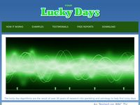 Lucky Days Astrology software for gambling