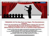 Stage Hypnosis Certification