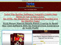 Turbo Site Builder Software - Resale Rights
