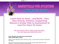 - Essentials For Starting a Women's Group