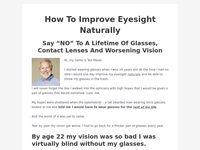 How To Improve EyesightNaturally - Clickbank - How To Improve Eyesight Naturally