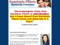 Keratosis Pilaris Remedy Forever  - How to Free Yourself From Keratosis Pilaris Forever!
