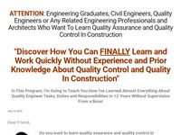 QA/QC Engineers Academy – It is a site that teaches about quality assurance and quality control in construction
