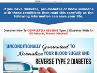 """REVERSE DIABETES TODAY"" - Your Diabetes Cure - Official Website"