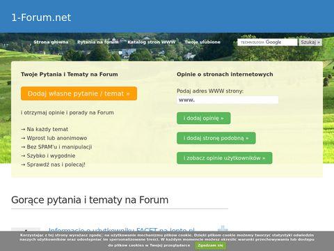 1-Forum.net - Opinie, Porady i Dyskusje