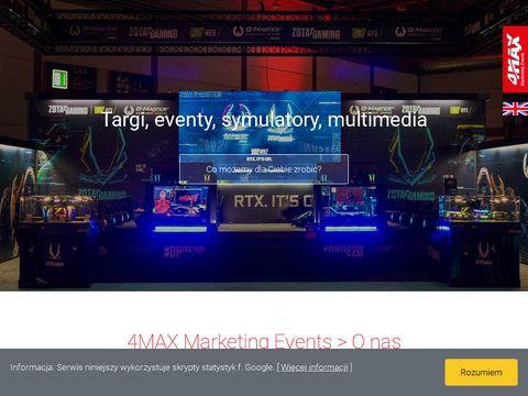 Imprezy integracyjne- symulatory samochodowe- targi