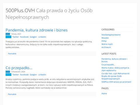 500plus.ovh, czyli strona o życiu osób niepełnosprawnych.