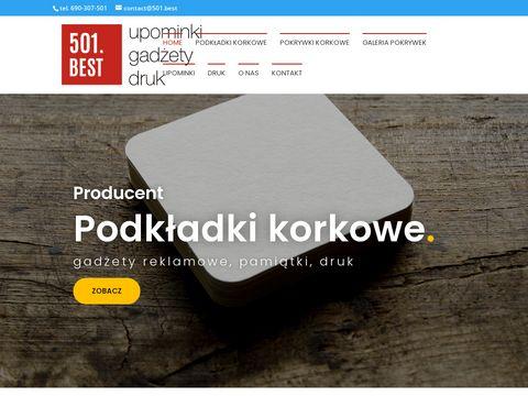 Podk艂adki korkowe z nadrukiem - 501.best