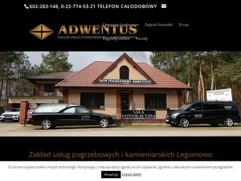 Zakład pogrzebowy Adwentus z Legionowa - adwentus.pl