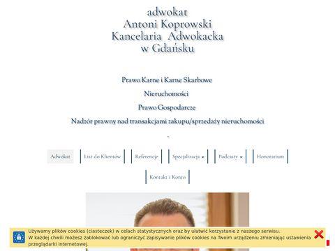 Adwokat Antoni Koprowsk