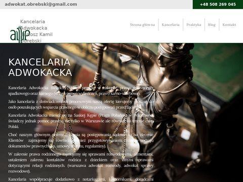 Adwokat-obrebski.pl adwokat alimenty warszawa