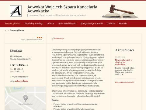 Adwokat Wojciech Szpara - Kancelaria Adwokacka DÄ™bica