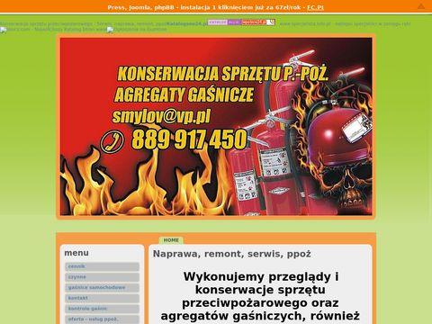 GAŚ/ŻAR.naprawa, konserwacja, serwis sprzętu przeciwpożarowego.