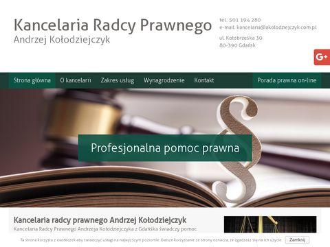 ANDRZEJ KO�ODZIEJCZYK doradztwo prawne dla przedsiębiorstwa Gdańsk