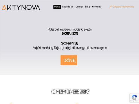 AKTYNOVA strony internetowe Kraków, sklepy Shoper, pozycjonowanie