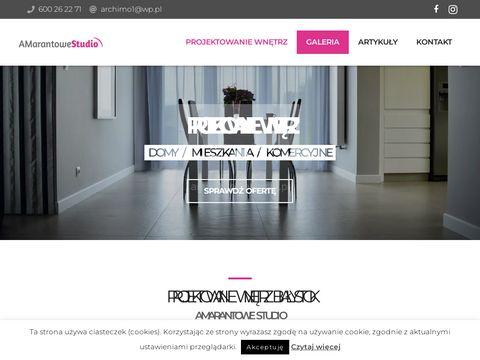 Projektant wnętrz Białystok - AMarantowe Studio