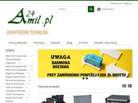 Pojemniki magazynowe i Walizki aluminiowe - Amil24.pl