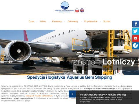 AQUARIUS GEM SHIPPING obsługa spedycyjna przesyłek