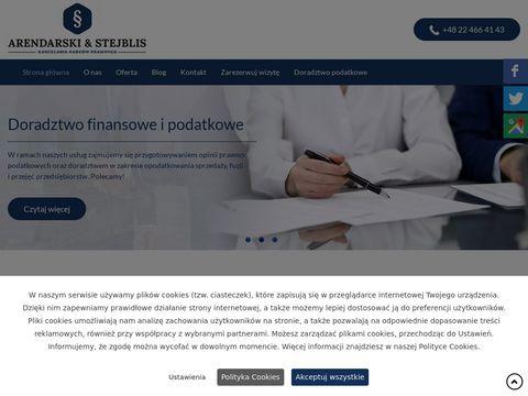 Arendarski-stejblis.pl adwokat Warszawa