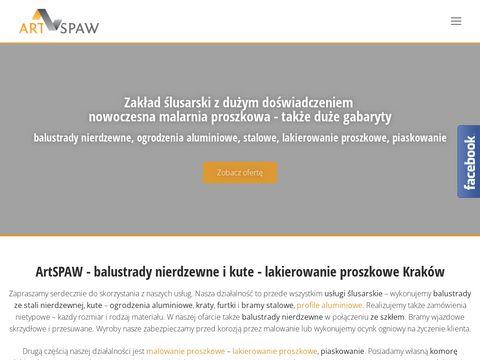 ArtSpaw - lakierowanie i malowanie proszkowe Kraków - zakład ślusarski